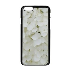 Hydrangea Flowers Blossom White Floral Elegant Bridal Chic Apple Iphone 6/6s Black Enamel Case by yoursparklingshop
