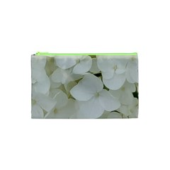 Hydrangea Flowers Blossom White Floral Elegant Bridal Chic Cosmetic Bag (xs) by yoursparklingshop