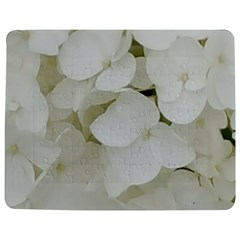 Hydrangea Flowers Blossom White Floral Elegant Bridal Chic Jigsaw Puzzle Photo Stand (rectangular) by yoursparklingshop