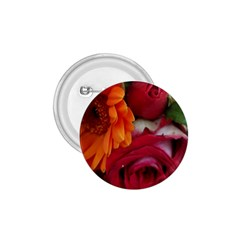 Floral Photography Orange Red Rose Daisy Elegant Flowers Bouquet 1 75  Buttons by yoursparklingshop