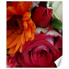Floral Photography Orange Red Rose Daisy Elegant Flowers Bouquet Canvas 8  X 10  by yoursparklingshop