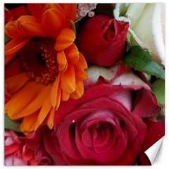 Floral Photography Orange Red Rose Daisy Elegant Flowers Bouquet Canvas 20  X 20   by yoursparklingshop