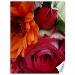 Floral Photography Orange Red Rose Daisy Elegant Flowers Bouquet Canvas 36  X 48   by yoursparklingshop