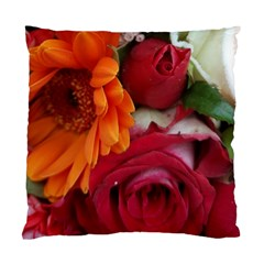 Floral Photography Orange Red Rose Daisy Elegant Flowers Bouquet Standard Cushion Case (two Sides) by yoursparklingshop