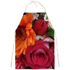 Floral Photography Orange Red Rose Daisy Elegant Flowers Bouquet Full Print Aprons by yoursparklingshop