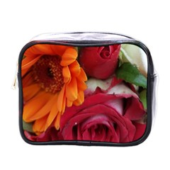 Floral Photography Orange Red Rose Daisy Elegant Flowers Bouquet Mini Toiletries Bags by yoursparklingshop
