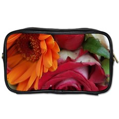 Floral Photography Orange Red Rose Daisy Elegant Flowers Bouquet Toiletries Bags 2 Side by yoursparklingshop