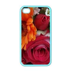 Floral Photography Orange Red Rose Daisy Elegant Flowers Bouquet Apple Iphone 4 Case (color) by yoursparklingshop