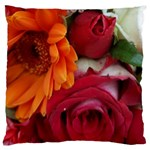 Floral Photography Orange Red Rose Daisy Elegant Flowers Bouquet Large Cushion Case (Two Sides) Back