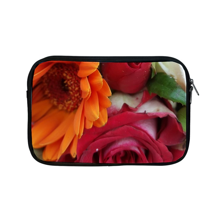 Floral Photography Orange Red Rose Daisy Elegant Flowers Bouquet Apple iPad Mini Zipper Cases
