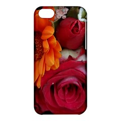 Floral Photography Orange Red Rose Daisy Elegant Flowers Bouquet Apple Iphone 5c Hardshell Case by yoursparklingshop