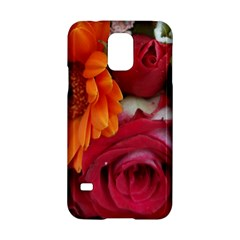 Floral Photography Orange Red Rose Daisy Elegant Flowers Bouquet Samsung Galaxy S5 Hardshell Case  by yoursparklingshop