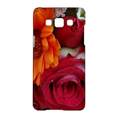 Floral Photography Orange Red Rose Daisy Elegant Flowers Bouquet Samsung Galaxy A5 Hardshell Case  by yoursparklingshop