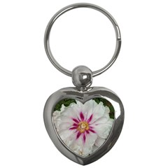 Floral Soft Pink Flower Photography Peony Rose Key Chains (heart)  by yoursparklingshop