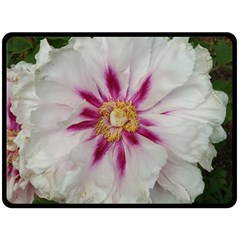 Floral Soft Pink Flower Photography Peony Rose Double Sided Fleece Blanket (large)  by yoursparklingshop