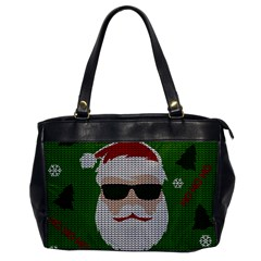 Ugly Christmas Sweater Office Handbags by Valentinaart