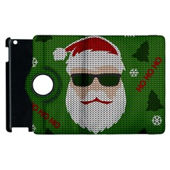 Ugly Christmas Sweater Apple Ipad 2 Flip 360 Case by Valentinaart