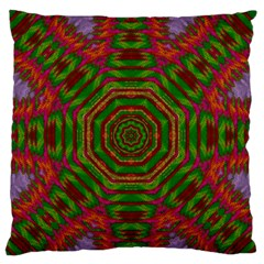 Feathers And Gold In The Sea Breeze For Peace Large Flano Cushion Case (two Sides) by pepitasart