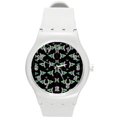 Fishes Talking About Love And Stuff Round Plastic Sport Watch (m) by pepitasart