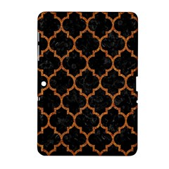 Tile1 Black Marble & Teal Leather (r) Samsung Galaxy Tab 2 (10 1 ) P5100 Hardshell Case  by trendistuff