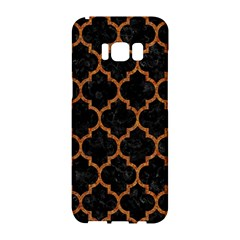 Tile1 Black Marble & Teal Leather (r) Samsung Galaxy S8 Hardshell Case  by trendistuff