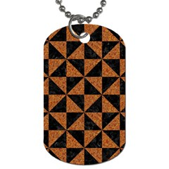Triangle1 Black Marble & Teal Leather Dog Tag (one Side) by trendistuff