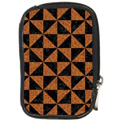 Triangle1 Black Marble & Teal Leather Compact Camera Cases by trendistuff