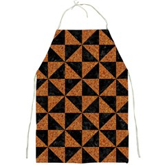 Triangle1 Black Marble & Teal Leather Full Print Aprons by trendistuff