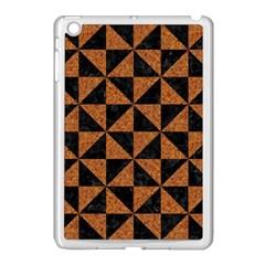 Triangle1 Black Marble & Teal Leather Apple Ipad Mini Case (white) by trendistuff