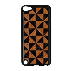 Triangle1 Black Marble & Teal Leather Apple Ipod Touch 5 Case (black) by trendistuff