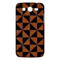 Triangle1 Black Marble & Teal Leather Samsung Galaxy Mega 5 8 I9152 Hardshell Case  by trendistuff