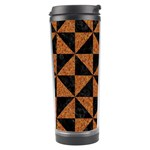 TRIANGLE1 BLACK MARBLE & TEAL LEATHER Travel Tumbler Center