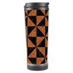 TRIANGLE1 BLACK MARBLE & TEAL LEATHER Travel Tumbler Right