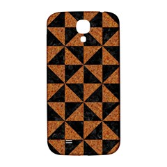 Triangle1 Black Marble & Teal Leather Samsung Galaxy S4 I9500/i9505  Hardshell Back Case by trendistuff