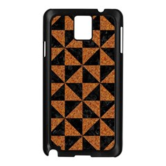 Triangle1 Black Marble & Teal Leather Samsung Galaxy Note 3 N9005 Case (black) by trendistuff