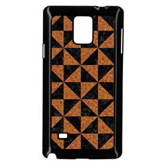 Triangle1 Black Marble & Teal Leather Samsung Galaxy Note 4 Case (black) by trendistuff