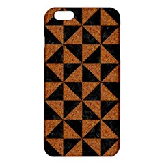 Triangle1 Black Marble & Teal Leather Iphone 6 Plus/6s Plus Tpu Case by trendistuff
