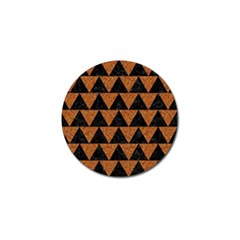 Triangle2 Black Marble & Teal Leather Golf Ball Marker by trendistuff