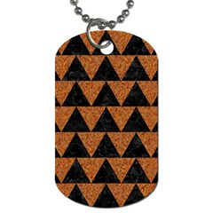 Triangle2 Black Marble & Teal Leather Dog Tag (two Sides) by trendistuff