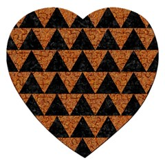 Triangle2 Black Marble & Teal Leather Jigsaw Puzzle (heart) by trendistuff