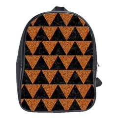 Triangle2 Black Marble & Teal Leather School Bag (large) by trendistuff