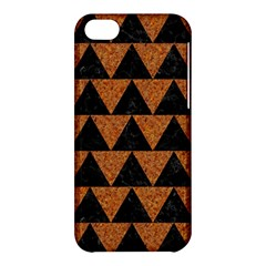 Triangle2 Black Marble & Teal Leather Apple Iphone 5c Hardshell Case by trendistuff