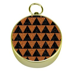 Triangle2 Black Marble & Teal Leather Gold Compasses by trendistuff