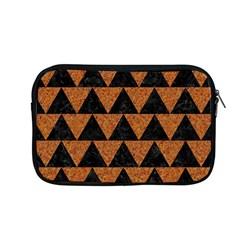 Triangle2 Black Marble & Teal Leather Apple Macbook Pro 13  Zipper Case by trendistuff