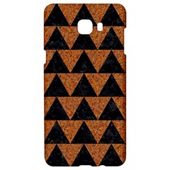 Triangle2 Black Marble & Teal Leather Samsung C9 Pro Hardshell Case  by trendistuff