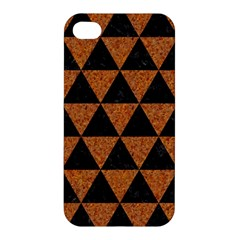 Triangle3 Black Marble & Teal Leather Apple Iphone 4/4s Premium Hardshell Case by trendistuff