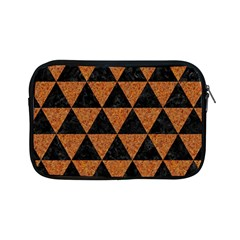 Triangle3 Black Marble & Teal Leather Apple Ipad Mini Zipper Cases by trendistuff