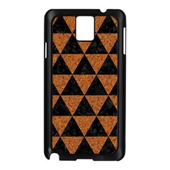 Triangle3 Black Marble & Teal Leather Samsung Galaxy Note 3 N9005 Case (black) by trendistuff