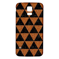 Triangle3 Black Marble & Teal Leather Samsung Galaxy S5 Back Case (white) by trendistuff
