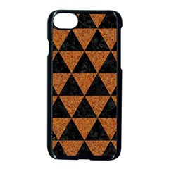 Triangle3 Black Marble & Teal Leather Apple Iphone 8 Seamless Case (black) by trendistuff